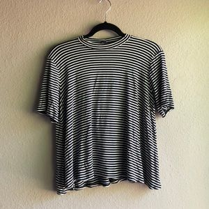 Forever 21 black and white striped top